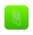 double doors icon green vector image