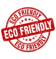 eco friendly stamp vector image vector image