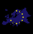 europe map flag vector image vector image