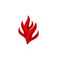 fire logo design template vector image vector image