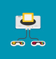flat design concept game environment tools vector image vector image