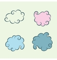 Four clouds vector image vector image