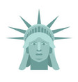 head of statue of liberty face sculpture america vector image