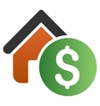 Home Rent Gradient Icon vector image