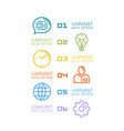 information set icons vector image vector image