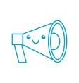 kawaii megaphone loudspeaker marketing cartoon vector image vector image