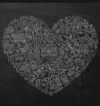 line art hand drawn set school cartoon vector image