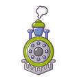 locomotive icon cartoon style vector image
