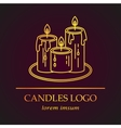 Logo with golden candles vector image vector image