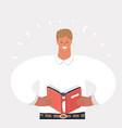 man reading a book vector image vector image