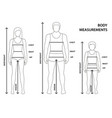 man women and child sizes measurements vector image