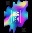 modern dynamic futuristic cover design vector image vector image