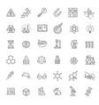 modern thin line icons set biochemistry vector image