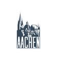 monochrome badge icon aachen city on white vector image vector image