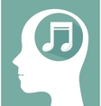 musical profile isolated icon design vector image vector image