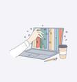 online library education in internet concept vector image