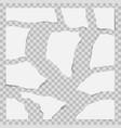paper torn to pieces scrap paper vector image vector image