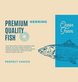 premium quality herring abstract fish vector image vector image
