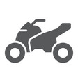 quadbike glyph icon bike and extreme atv vector image vector image
