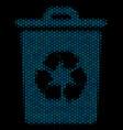 recycle bin mosaic icon of halftone spheres vector image vector image