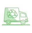 recycle cargo truck vector image vector image