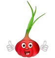 Red onion cartoon thumbs up