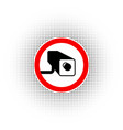 round and red border for road sign no trespassing vector image