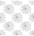 Seamless pattern with doodle spiderwebs vector image vector image