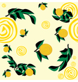 seamless pattern with yellow flowers and leaves vector image vector image