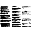 set black paint ink brush strokes vector image vector image