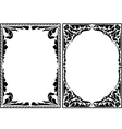 silhouette decorative frames vector image vector image