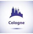 silhouette of the symbol of Cologne Germany vector image vector image