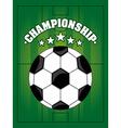 soccer sport vector image vector image
