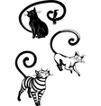 Stylized Cats - elegance and graceful cats vector image vector image
