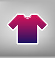 t-shirt sign purple gradient vector image