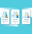 tickets mobile app onboarding screens vector image