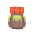 tourist hiking backpack with camping mat vector image vector image
