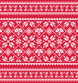 Ukrainian Slavic folk art white embroidery vector image