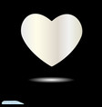 white heart for valentine s day symbol love vector image vector image