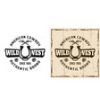 wild west retro emblem badge label logo vector image