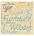 Wooden Vs Steel Furniture Which one should I vector image vector image