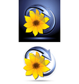 yellow flower buttons vector image vector image