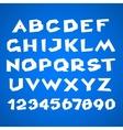 Decorative alphabet Simple bold vector image
