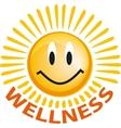 Emoticon with smiley face yellow web icon vector image