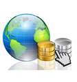 world and data vector image