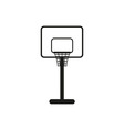 Simple black basketball backboard icon symbol vector image