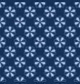 5 petal flower motif japanese style seamless vector image
