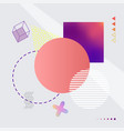 abstract image with shapes vector image vector image