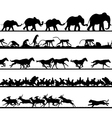 Animal foreground silhouettes vector image vector image