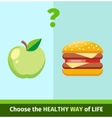 Apple or Burger Food Design Flat vector image vector image